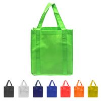 "Non-Woven Reusable Tote Shopping Bag 12""x13""x10"""