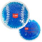 Custom Blue Baseball Hot/ Cold Pack with Gel Beads