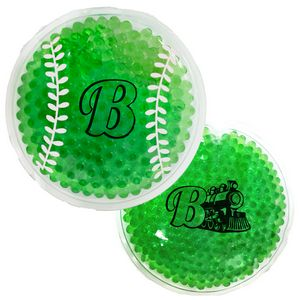 Green Baseball Hot/ Cold Pack with Gel Beads