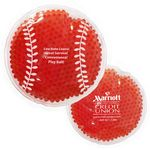 Custom Red Baseball Hot/ Cold Pack with Gel Beads
