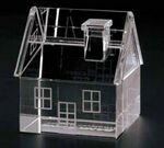 Custom Clear House Paper Weight