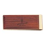 Custom Executive Collection Natural Wood Money Clip