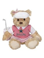 Plush golf bear - Penelope golf bear