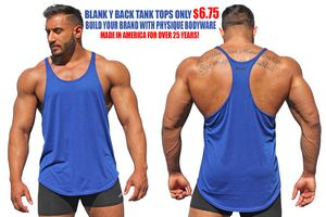 Mens Y Back Stringer Tank Top