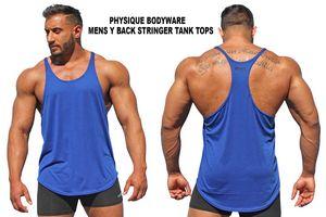 Original Mens Y-Back Stringer Tank Tops for bodybuilders