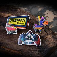"Stainless Steel Printed Pins (2"")"