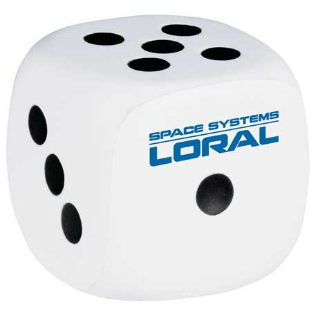 Dice Stress Reliever, SM-3395, 1 Colour Imprint