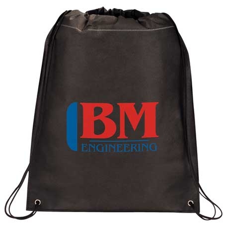Large Heat Seal Drawstring Bag, SM-7323, 1 Colour Imprint