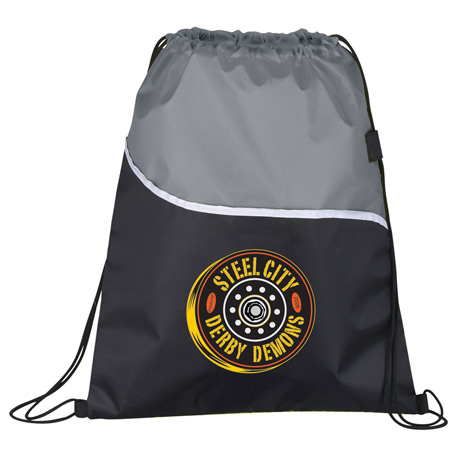 Wave Drawstring Sportspack, SM-7114 - 1 Colour Imprint