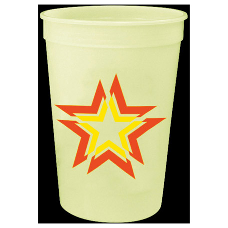 Glow 16oz Stadium Cup, HL-531, 1 Colour Imprint