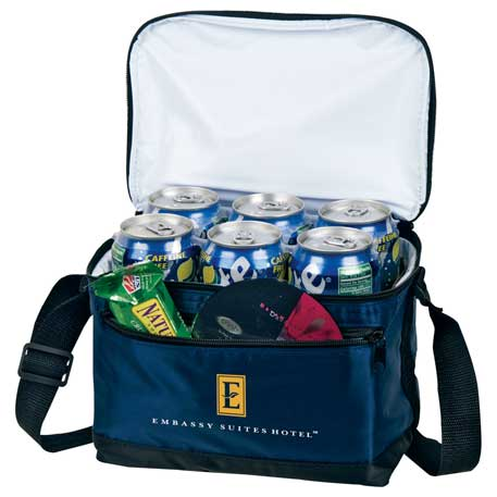 Deluxe 6-Can Lunch Cooler, SM-7501, 1 Colour Imprint
