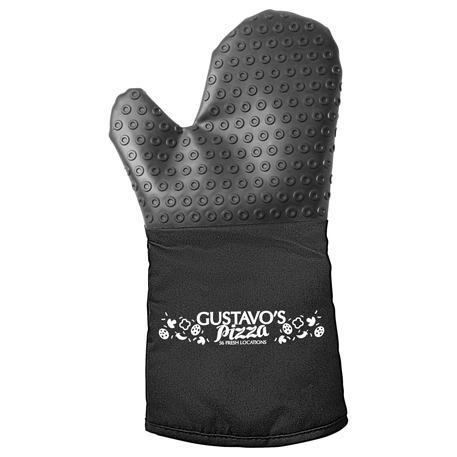 Silicone BBQ Grilling Mitt, SM-7668, 1 Colour Imprint