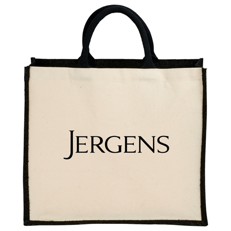 Metallic Jute and Cotton Canvas Shopper, SM-7131 - 1 Colour Imprint