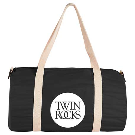"Barrel 18"" 5oz Cotton Canvas Duffel Bag, SM-7233, 1 Colour Imprint"