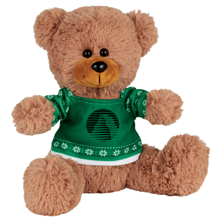 """Ugly Sweater 8"""" Sitting Bear, SM-2193 - 1 Colour Imprint"""