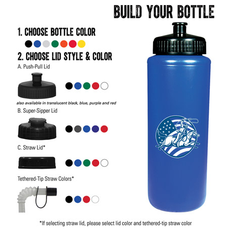 32-oz. Sports Bottle, HL-32 - 1 Colour Imprint