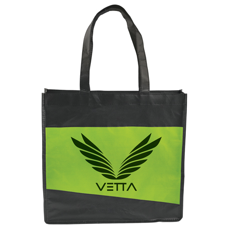 Laminated Non-Woven Convention Tote, SM-7075, 1 Colour Imprint