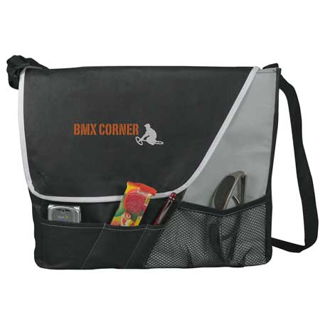 Rhythm Non-Woven Messenger Bag, SM-7349, 1 Colour Imprint