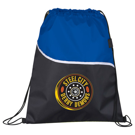 Wave Drawstring Bag, SM-7114, 1 Colour Imprint