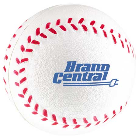 Baseball Stress Reliever, SM-3387, 1 Colour Imprint