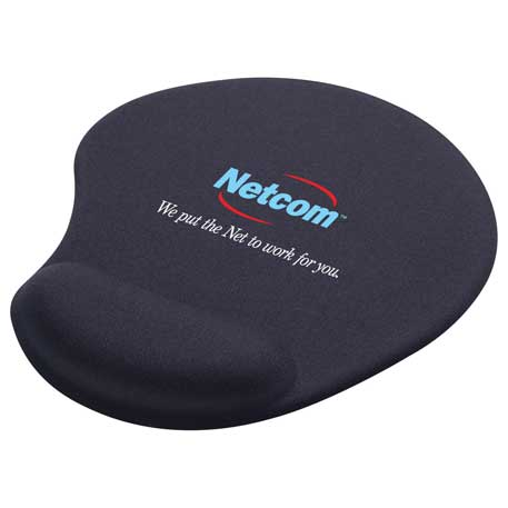 Solid Jersey Gel Mouse Pad / Wrist Rest, SM-3310, 1 Colour Imprint