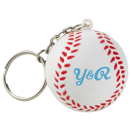 Homerun Baseball Keychain, SM-2687, 1 Colour Imprint