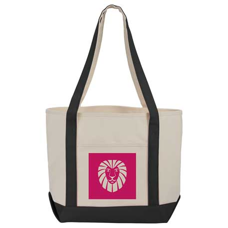 12 oz. Cotton Canvas Boat Tote, SM-7216 - 1 Colour Imprint