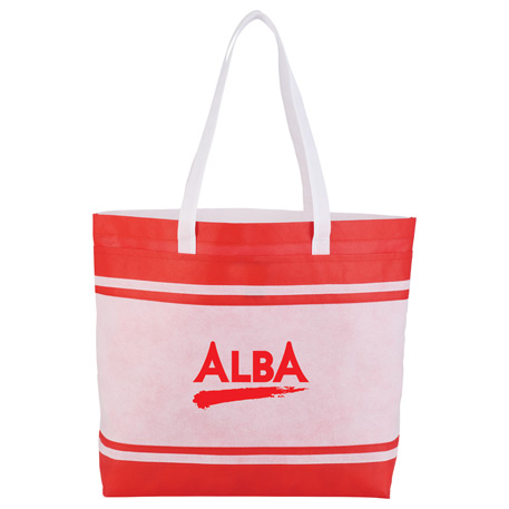 Non-Woven Stripes Tote, SM-7045 - 1 Colour Imprint
