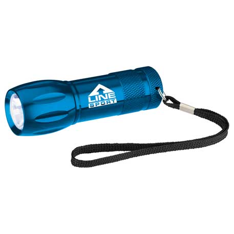 Metal LED Flashlight, SM-9819 - 1 Colour Imprint