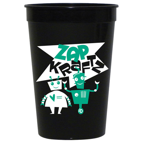 Solid 16oz Stadium Cup, HL-500, 1 Colour Imprint