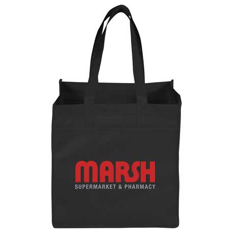 Squared Away 100g Non-Woven Tote, SM-7177, 1 Colour Imprint