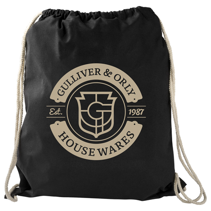 Large Cotton Drawstring Sportspack, SM-7737 - 1 Colour Imprint