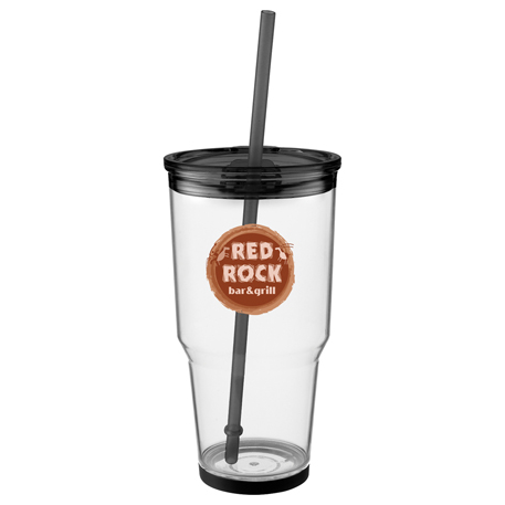 Biggie 24-oz. Tumbler with Straw, SM-6608 - 1 Colour Imprint