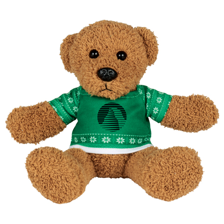 "Ugly Sweater 6"" Rag Bear, SM-2188 - 1 Colour Imprint"