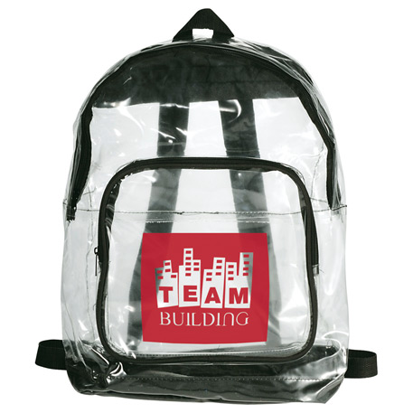 Rally Clear Backpack, SM-7300, 1 Colour Imprint