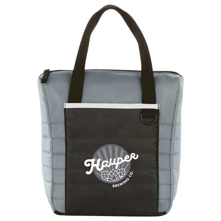 Quilted 12-Can Lunch Cooler, SM-7774, 1 Colour Imprint