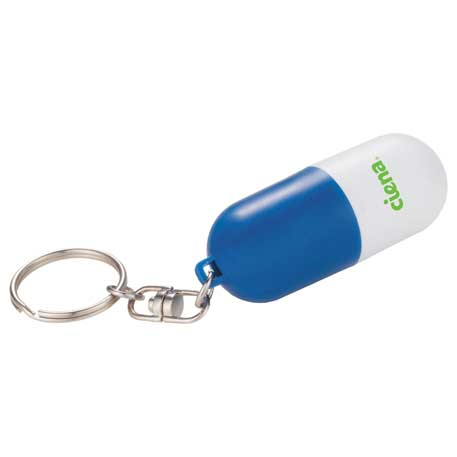 Pill Case Keychain, SM-2504, 1 Colour Imprint