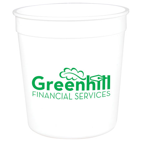 Solid 8oz Stadium Cup, HL-514, 1 Colour Imprint