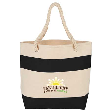 16 oz. Cotton Canvas Rope Handle Tote, SM-7092 - 1 Colour Imprint