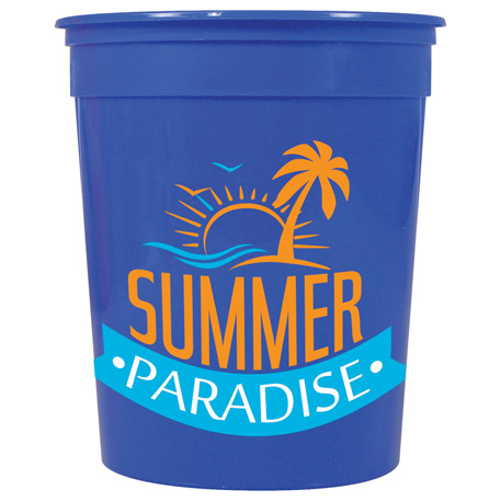 Casino Solid 32oz Stadium Cup, HL-110, 1 Colour Imprint