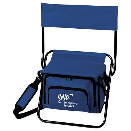 Folding Insulated 12-Can Cooler Chair, SM-7544, 1 Colour Imprint