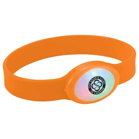 Flash Multi-Color LED Bracelet, SM-9659, 1 Colour Imprint