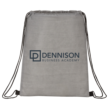 Graphite Non-Woven Drawstring Bag, SM-5885, 1 Colour Imprint