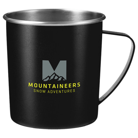 Atlas Metal 16oz Camping Mug, SM-6662, 1 Colour Imprint