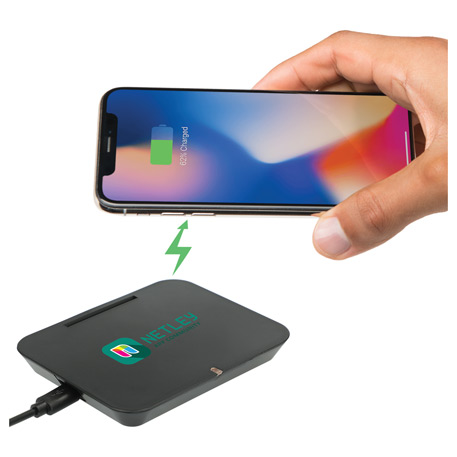 Optic Wireless Charging Phone Stand, SM-2818, 1 Colour Imprint
