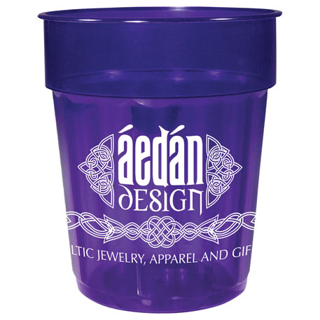 16-oz. Fluted Jewel Stadium Cup, HL-585 - 1 Colour Imprint
