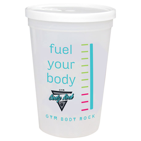 16-oz. Shaker Stadium Cup with Lid, HL-716 - 1 Colour Imprint