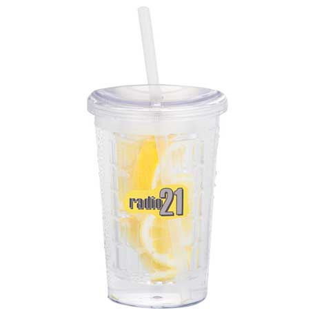 Tutti Frutti 20-oz. Tumbler with Straw, SM-6831 - 1 Colour Imprint