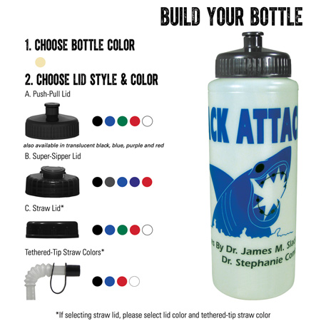 Glow Squeeze 32oz Sports Bottle, HL-28, 1 Colour Imprint