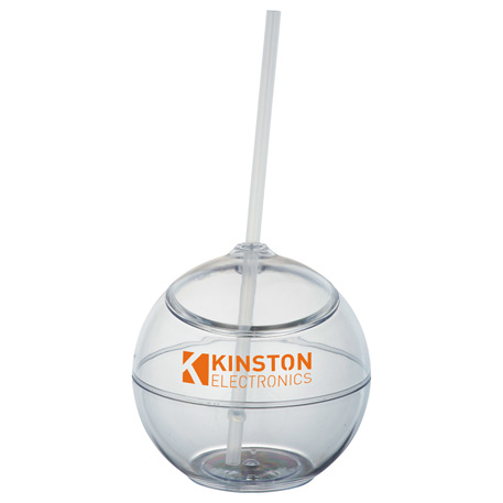 Fiesta 20-oz. Ball with Straw, SM-6620 - 1 Colour Imprint